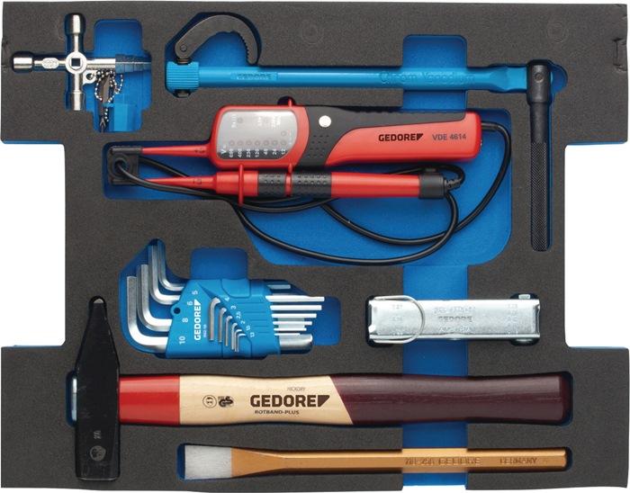 Ass. gereedschappen 1100-03 44d. Ass. sanitair in L-boxx GEDORE