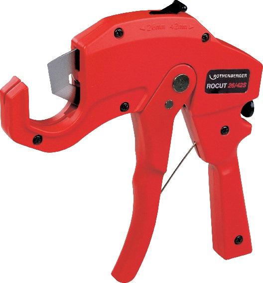 Kunststofschaar ROCUT PS 35 snijbereik 6-35mm v.snijden v.PP/PE/PB/PEX/PVDF