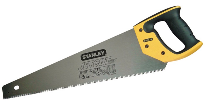 houtzaag JetCut L0,500 mm grove vertanding 11 tanden/inch 3 snijkanten Stanley