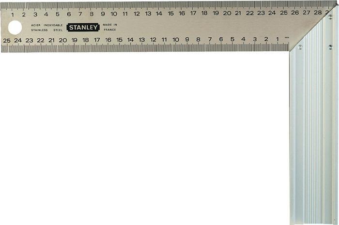 Timmermanshaak L.200mm B.400mm voor 45 gr. Hoeken Rvs-blad Stanley