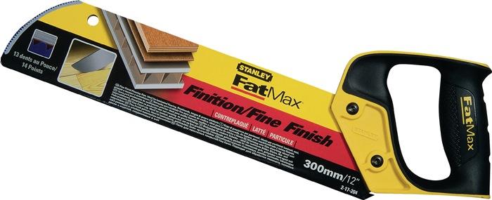 Fijne zaag L.300mm 12 tanden/inch 0,7mm dik fijne vertanding Stanley
