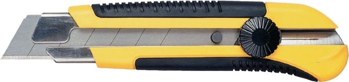 Afbreekmes L.180mm breedte 25mm dik 0,7mm m.schroefdraadschroef DynaGri ZB