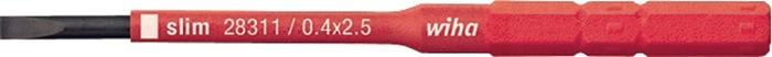 Bit SoftFinish electric slimBit VDE sleuf 4x75mm slimBit Wiha