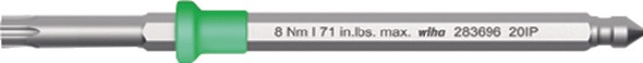 Omkeerk.TORX PLUS 8IP lemmetl. 20mm tot.l.75mm max. mom.2,0Nm sm.lemmetd. WIHA