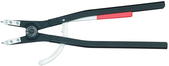 Borgringtang L.580mm 90 gr. d.252,0-400,0mm zwart m.poedercoating v.buitenring
