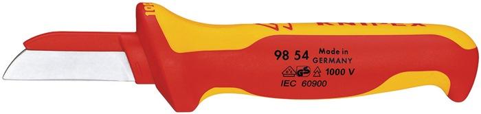 Kabelmessen L.185mm VDE-getest lemmetL.50mm Knipex