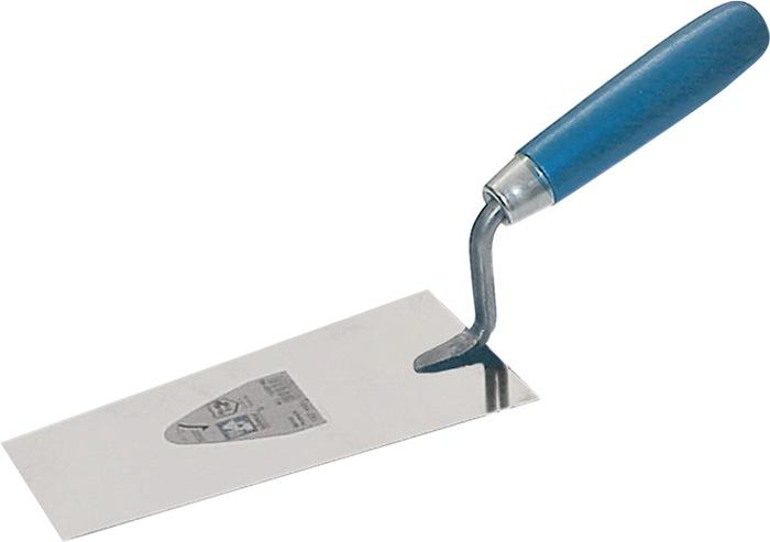 Bernse pleistertroffel l.160 mm Breedte 85 mm roestvrij m.beukenhout wiggen RVS