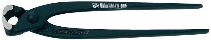 Hoeftang DIN ISO 9242 totale L.300mm kop gepolijst hndgrn zwart gelakt