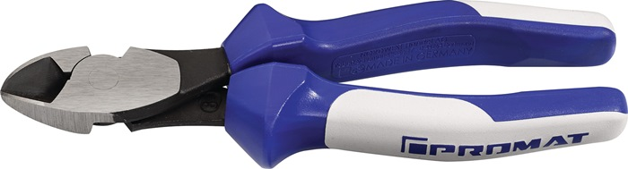 Kracht-zijsnijtang DIN ISO 5749 totale L.200mm kop gepolijst m.2-comp. handgr.