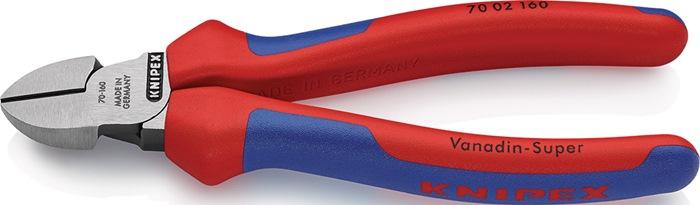 Zijsnijtang DIN/ISO 5749 L.160mm m.2-componenten handgrepen Knipex