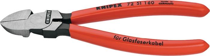 Kunststofsnijtang L.160mm gepol. met kunststof overtrokken KNIPEX voor glasvezel