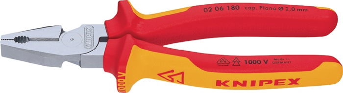 Kracht-combinatietang DIN/ISO 5746 L.180mm VDE m.antislip Knipex