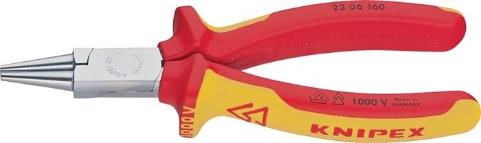 Rondbektang DIN ISO5745 L.160mm VDE m.2-componenten handgrepen Knipex