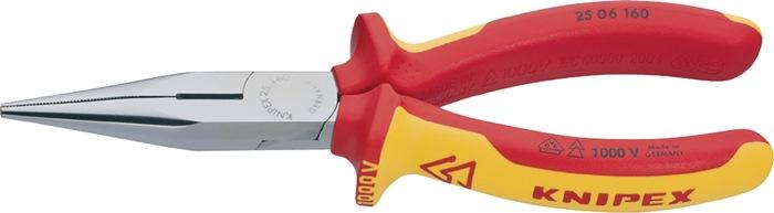 Radiotang DIN/ISO5745 L.160mm VDE plat/rond m.2-compon. antislip handgr chroom