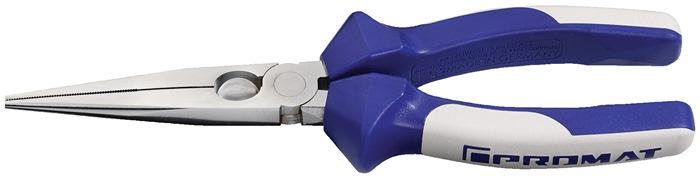 Spitsbektang DIN ISO 5745 totale L.200mm L.200mm recht plat/rond m.2comp hndgrn