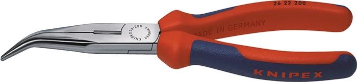 Spitsbektang DIN ISO5745 L.200mm 45 gr. gebogen m.2-comp. hndgrn chroom
