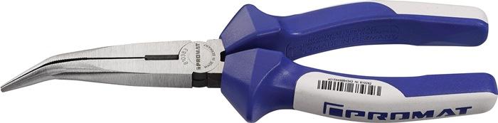 Spitsbektang DIN ISO 5745 L.200mm kop gepolijst gebogen m.snede m.2comp hndgrn
