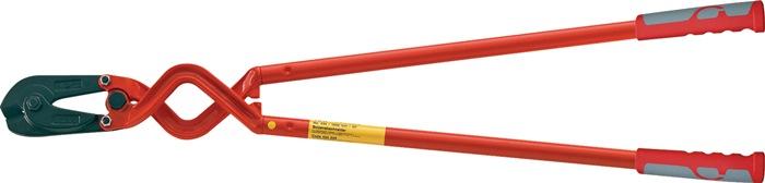 Hoekbetonschaar 1000mm rood gelakt knipcapaciteit tot 48 HRc zachte draad-d.11mm