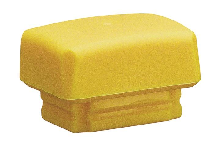 Kunststofhamerkop Secural 30x40mm PUR-geel, middelhard HALDER