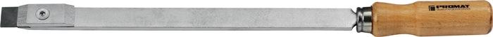 Vlakschraapstaal L.300mm B.20x5mm met HM mes met houten greep