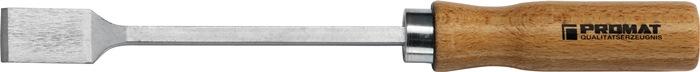 Dichtingschraapstaal L.150mm B.25mm 8-kant CV. m.houten handvat