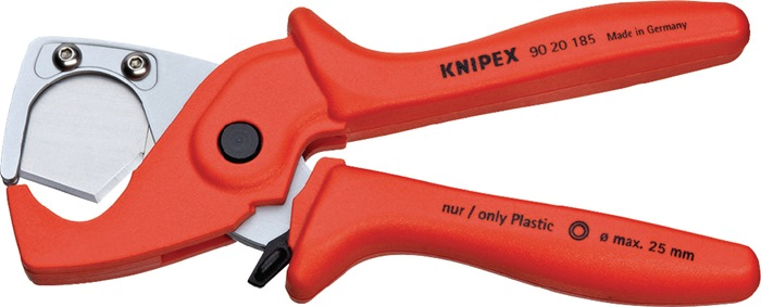 Slang-/beschermbuissnijder totale lengte 185mm d. 25mm kop verchroomd KNIPEX