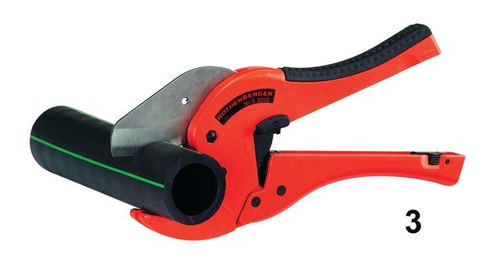 Kunststofschaar ROCUT TC50 snijbereik 0-50mm v.snijden v.PP/PE/PB/PEX/PVDF