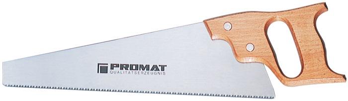 Handzaag bladl. 350mm v.elektrostaal m.houten greep v.groen/nat hout PROMAT