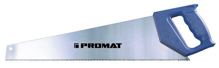 Handzaag bladl. 450mm 7 t./inch gehard en geslepen met kunststofgreep PROMAT