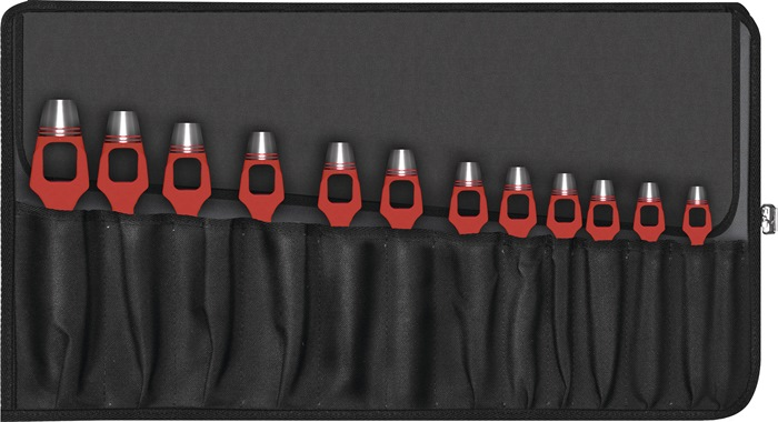 Set beugelholpijpen DIN7200-A 12-delig gat-d. 3-25mm