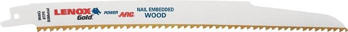 Reciprozaagblad goud l.225mm bimetaal 6 tanden/in. v.hout 156G 5 stuks/VE LENOX