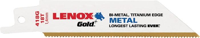 Reciprozaagblad goud L. 78mm 18 tanden/inch voor metaal 418G 5 stuks/VE LENOX