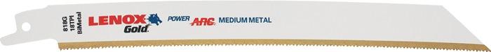 Reciprozaagblad goud le. 128mm tit.scha. bimet.18 t./in. v.metaal 610G 5 st./VE