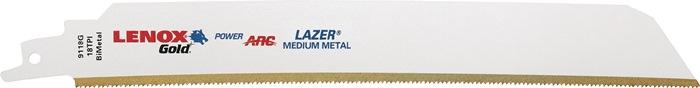 Rec.zaagbl.Gold laser le. 203mm tit.scha. bimet.18 t./in v.metaal 9118G 5 st./VE