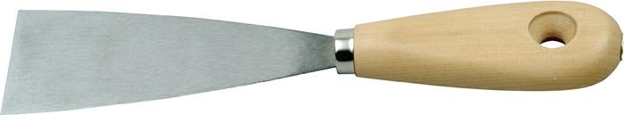 Schildersplamuurmes B.30mm met vlakovale houten greep