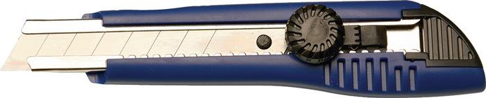 Afbreekmes breedte 18mm m.vastzet-draaiknop PROMAT