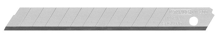 Cuttermessen L.110mm B 18mm dikte 0,55mm 7 afbreekbare lemmets à 10 st./disp. SB