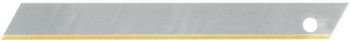 Afbreeklemmet b. 9mm dikte 0,4mm titanium ijsgehard in dispenserbox PROMAT