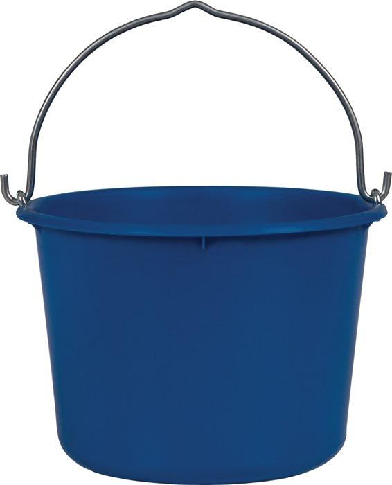 Bouwemmer 12 l zwaar, blauw