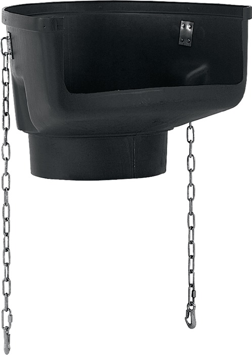 Vultrechter gewicht 8.6kg zwart m.verzinkte ketting