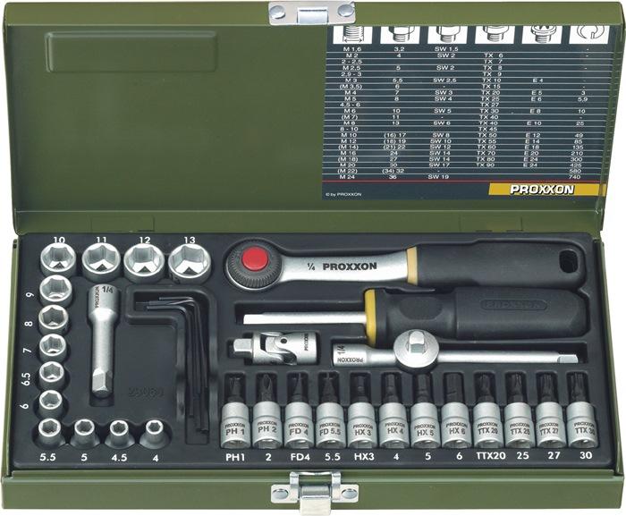 Steeksls 23080 1/4in. 36-dlg 4-13mm sleuf/PH/TX/ 6kt in metalen cass