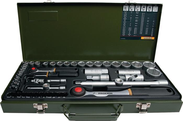 Steeksls 23040 1/4 en 1/2in. 56-dlg 4-32mm sleuf/PH/TX/ 6kt in metalen cass