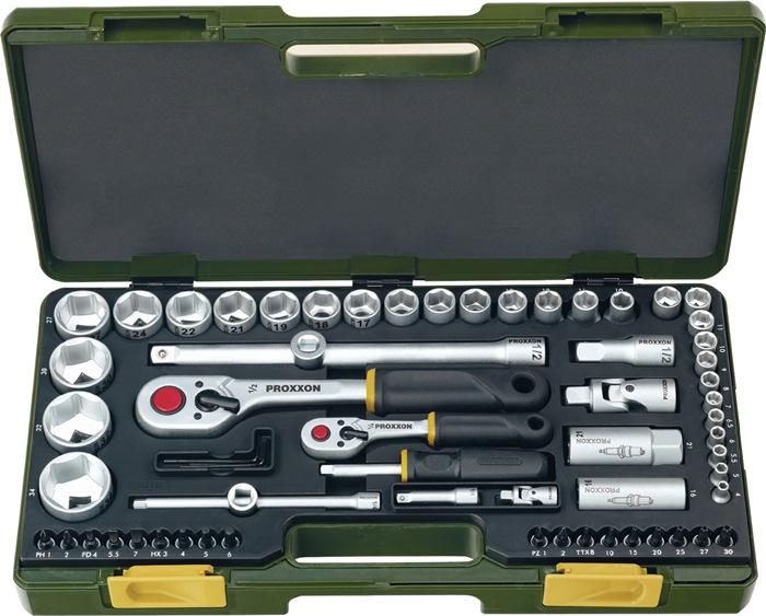 Steeksls 23286 1/4 en 1/2in. 65-dlg 4-32mm sleuf/PH/PZD/ TX/6kt in knststfkoffer