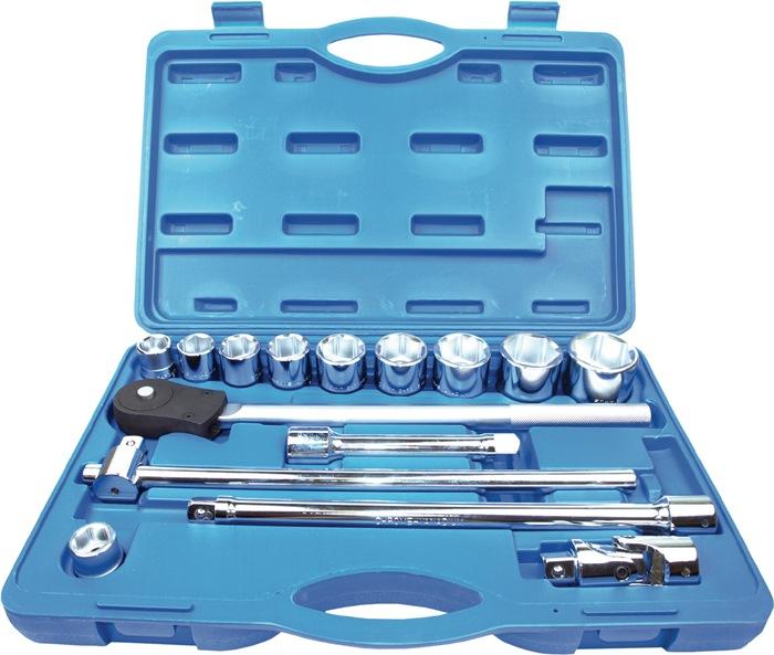 Set dopsleutels 15-delig 3/4inch 22-50mm PROFICRAFT voor 4-kant drive
