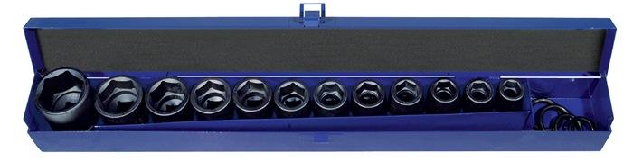 Machine-dopsleutelset CV. 20-dlg. 1/2inch 13-30mm L.38mm PROMAT voor 4-kt. drive