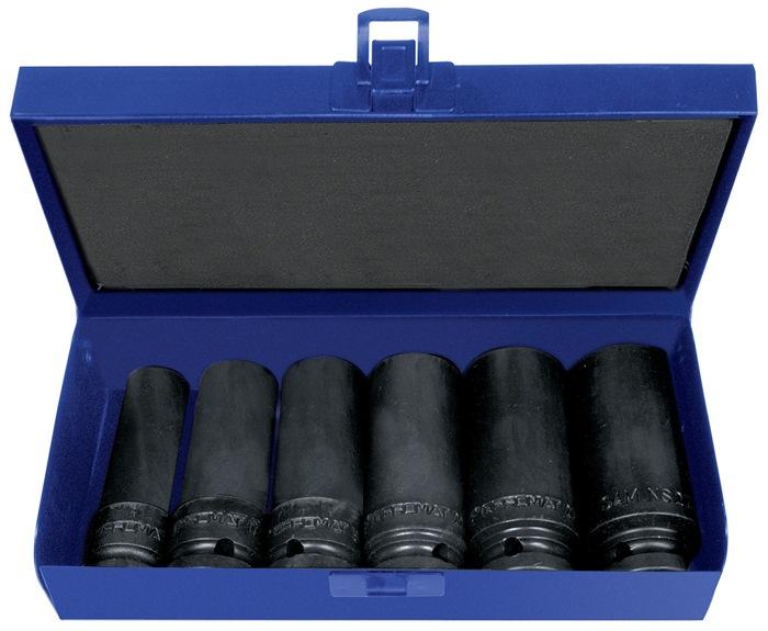 Machine-dopsleutelset CV. 14-dlg. 1/2inch 13-27mm L.80mm PROMAT voor 4-kt. drive