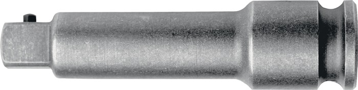 Verloopstuk DIN3121 1/2inch 4-kant lengte 125mm Vorm G12,5 speciaal staal ASW