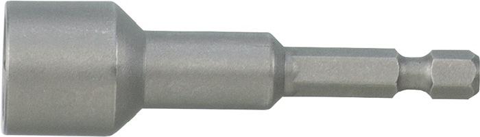 Steeksleutelbit 1/4inch, SW6mm d. 11mm, L50mm 6kt.-drive, E 6,3 m. perm. magn.