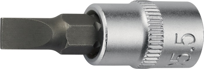 Steeksleutelbit 1/4inch sleuf 4mm totale lengte 32mm chroom-vanadiumstaal PROMAT