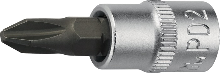 Steeksleutelbit 1/4inch PH1 totale lengte 32mm chroom-vanadiumstaal PROMAT